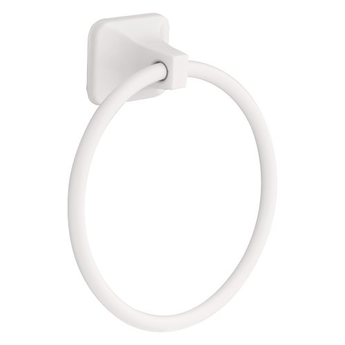 Franklin Brass  D2416W Futura Towel Ring, White (Bar Towel White)