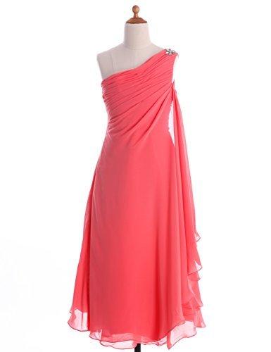 orange a line prom dress - 9