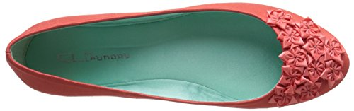 Happy Ballet Chinese Flat by Laundry CL Life Coral Organza Women's 7BIqOWT