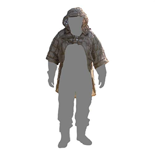 (Tactical Sharpshooter Ghillie Suit Jacket Foundation with Removable Hood (Tan) )