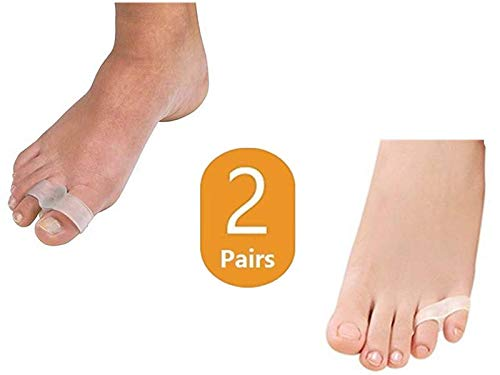4 Pieces Toe Separators,Toe Straightener,Bunion Splints Superior Cushioning with 2 Loops