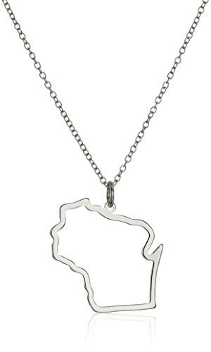 Sterling Silver Wisconsin State Outline Pendant Necklace, - Macys Wi