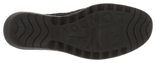 000 Black FLY Compensées Sandales Black London Yika733 Noir Femme x8qw4af0