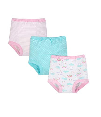 Gerber Little Girls' 3-Pack Organic Cotton Training Pant - Size 2T (Gerber Training Pants 2t)