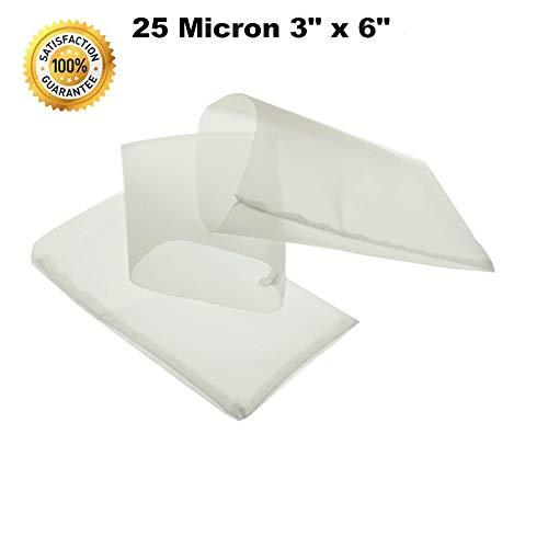 Rosin Press Bags, 25 Micron Rosin Bags, Rosin Filter Bag, Reusable Nylon Screen Press Bag-Extra Large 3''x 6'' (50 Pack) by WDHome (Image #7)