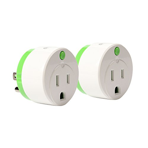 NEO Z-Wave Plus Smart Mini Power Plug Z Wave Outlet with Smart Energy Monitor Home Automation, Work with Wink, SmartThings, Vera & more, Green 2 PK