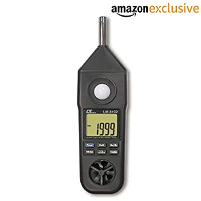 Lutron LM-8102 Digital (5 in 1) Anemometer Temperature Humidity Sound Level Meter Light Thermometer