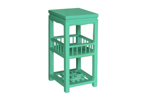 Porthos Home Antique Revival Valery End Table, Turquoise