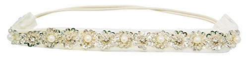 Chicky Chicky Bling Bling Glistening Crystal Snowflake Flowers Headband Womens Antique (Glistening Snow)