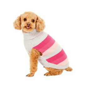 Fashion Pet Pink Best in Stripe Dog Sweater Extra Small, My Pet Supplies