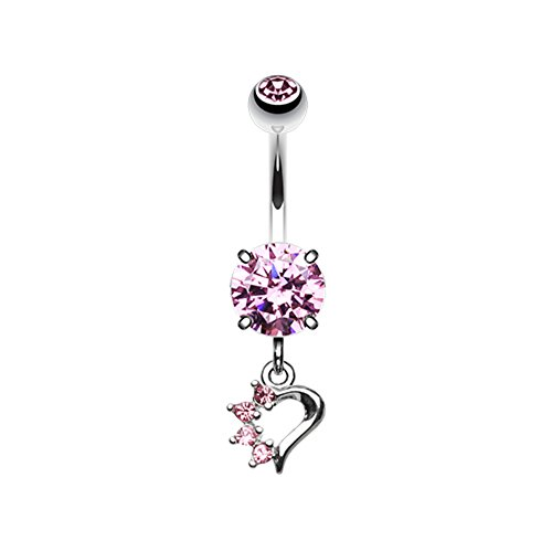 Charm Belly Ring Rings (Petite Luster Charm WildKlass Belly Button Ring)