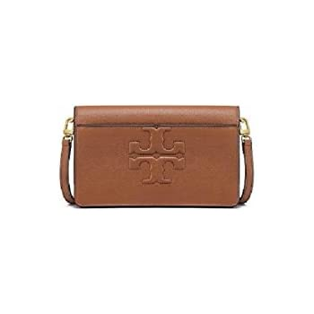 5c6213820 Tory Burch Bombe T Logo Small Leather Cross Body Bag Women's Handbag (Bark)