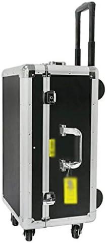 ツールオーガナイザー プラスチック製ポータブルローリングオーガナイザーツールボックスストレージソリューションアルミ合金のエッジ工具収納ボックスモバイルワーク・センター(ブラック+シルバー) ポータブルツールボックス