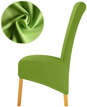 Tissu 4 ou 6 2 Leorate Housse de chaise grande taille en tissu extensible pour salle /à manger et h/ôtel Disponible en lot de 1 Orange. Pack of 1