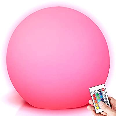 LED Night Light, LED Ball Lights for Kids, Rechargeable Portable Table Lamp with 16 RGB Colors Changing, 4 Modes and Remote Control Perfect for Bedroom,Home Party Lights