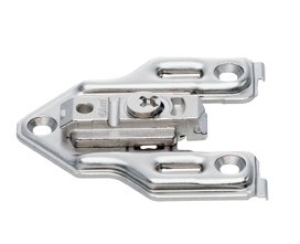 Clip Adapter Plate, For Face Frame, 0Mm, Cam Height Adjustable, Center Mount, Screw-On