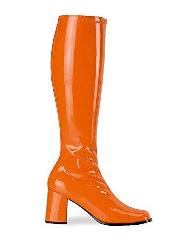 GOGO Mujer Patent Orange 300 Botas Funtasma para 8Fwqgqd
