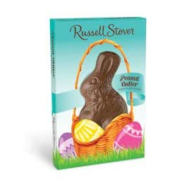 Russell Stover Milk Chocolate Peanut Butter Easter Rabbit, 1.5 oz.