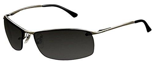 Ray-Ban RB 3183 Sunglasses Gunmetal / Grey Silver Mirror Polarized (004/82) 63mm & HDO Cleaning Carekit - Ray Ban 3183