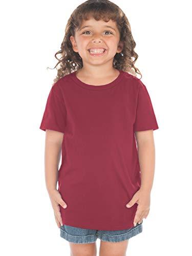 - Kavio! Toddlers Crew Neck Short Sleeve Tee (Same TJP0494) Cardinal 2T