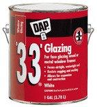 DAP 12019 33 Glazing Compound - Gallon White (Pack of 2)