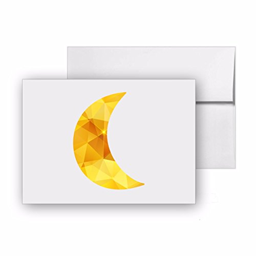 Moon Crescent, Blank Card Invitation Pack, 15 cards at 4x6, with White Envelopes, Item 1321485