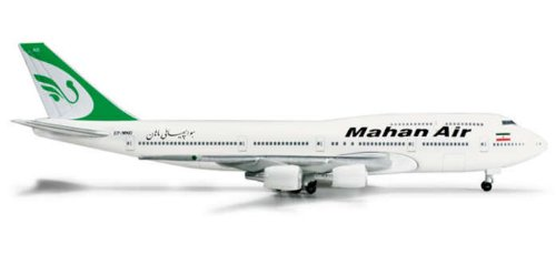 Herpa 500 Scale HE524285 Herpa Mahan Air 747-300 1-500 Combi REG No.EP-MND