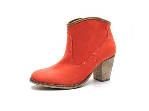 s.Oliver - Botas de material sintético para mujer rojo Peach