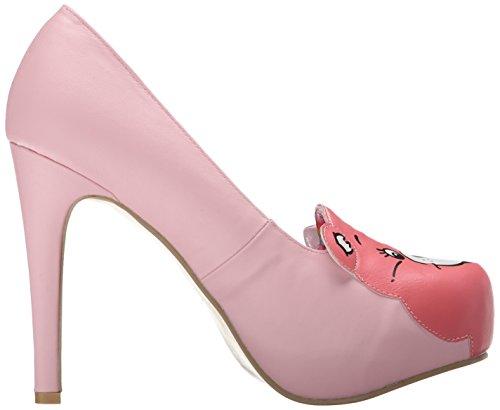 Iron Fist Carebears Stare Platform - zapatos de tacón cerrados de cuero mujer rosa - rosa