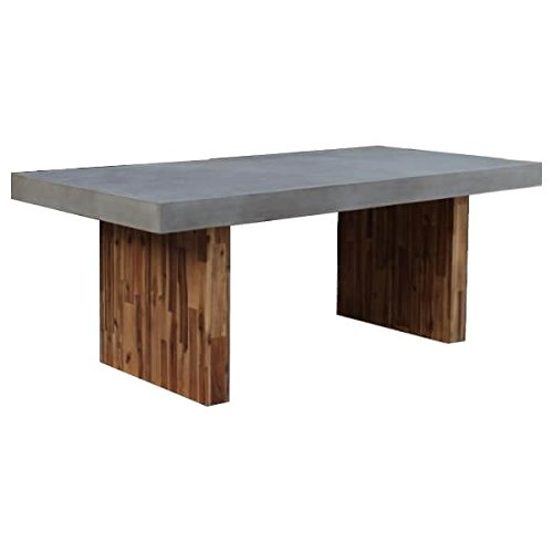Mathi Design Concrete And Wood Dining Table Buy Online In China At China Desertcart Com Productid 56830020