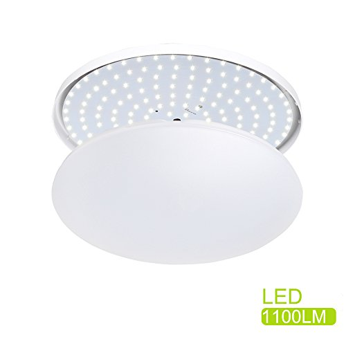 - S&G® LED 11.5-Inch Ceiling Light 12W 950-1100lm 4000k(Neutral White) 80W Incandescent (22W Fluorescent) Bulbs Equivalent Indoor Modern Flush Mount Ceiling Light Fixture