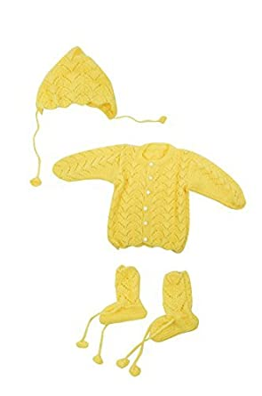 54405fdfb Kuchipoo Hnd Knitted Winter Sweater Set for Babies  Amazon.in ...
