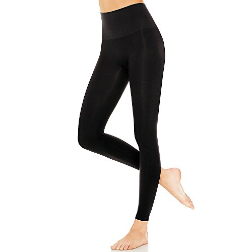 PU Health High Waist Compression Slimming Leggings for Toned Body, Black, 0.25 Pounds by PU Health