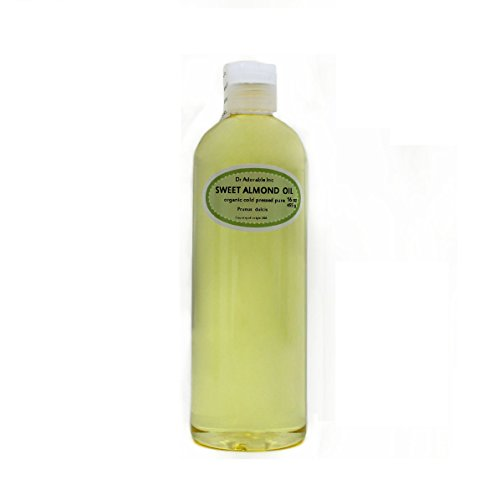 Sweet Almond Oil Organic Pure Cold Pressed by Dr.Adorable 16 Oz/1 Pint