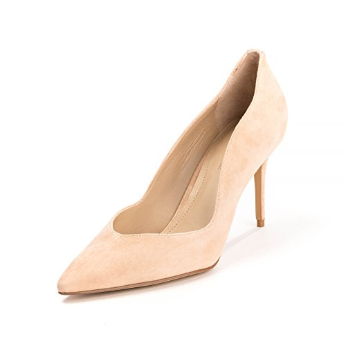 Kendall and Kylie Damen Plateau Apricot Peach Suede