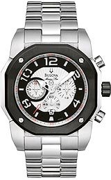 Bulova Men's 98B137 Marine Star Silver White Dial Watch