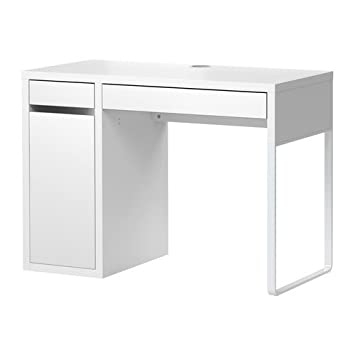 Schreibtisch weiß hochglanz ikea  Ikea MICKE Schreibtisch in weiß; (105x50cm)