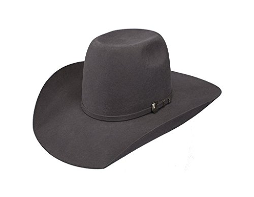 Resistol Boys Kid s 2X Pay Window 4 Brim Pre Creased Cowboy Hat OS Grey (Kid Resistol Cowboy Hat)