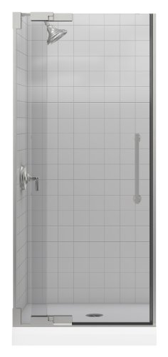- Kohler K-705700-L-NX Purist Heavy Glass Pivot Shower Door, 30 1/4