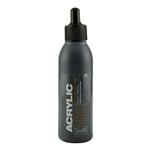 Montana Acrylic Marker Ink Refills, 25ml Bottle, Shock Black (045442) (Paint Refills)