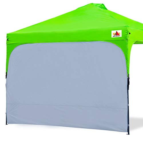 ABCCANOPY Sun Shelter Side Wall Beach Tents with Sides Sun Wall Attaches to 10 x 10 Pop-Up Canopy Tents Straight Leg 10 x 20 Tents 1 Pack, Gray