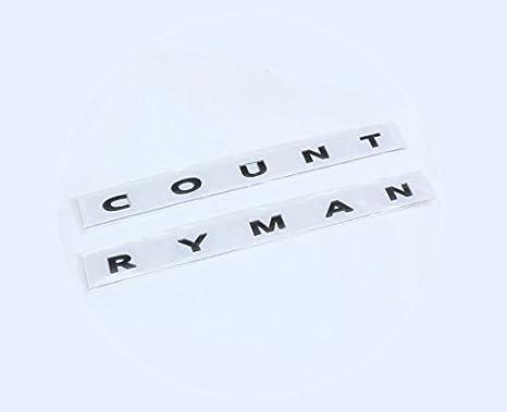 Amazoncom Black Mini Cooper Countryman Back Trunk Letters Car