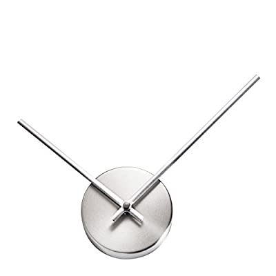 """TiiM New Modern Design Abstract 3D Wall Clock - Fully Assembled - Quiet Movement - Great As A DIY Hands Clock or with Wall Art (Brushed Silver) - Sleek and Modern Design with Durable Enamel Finish Aluminum Hands with Inward Curve to keep hands in shape Minute hand is 7.5"""" from Center, creating a 15"""" virtual clock face - wall-clocks, living-room-decor, living-room - 31nQH1QRFnL. SS400  -"""