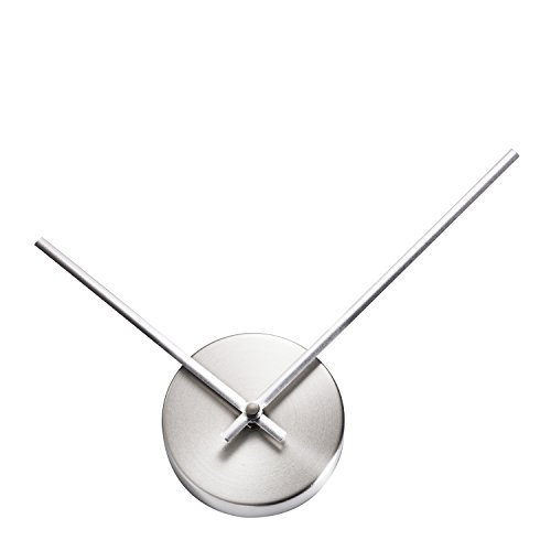 31nQH1QRFnL - TiiM New Modern Design Abstract 3D Wall Clock - Fully Assembled - Quiet Movement - Great As A DIY Hands Clock or with Wall Art (Brushed Silver)