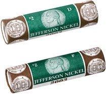2003 P & D Westward Journey Nickel US Mint Wrapped Rolls Monticello Mint Sealed ()