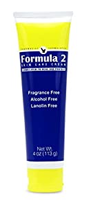 Formula 2 Skin Care Cream | Moisturizer & Barrier For Eczema - Psoriasis - Dermatitis - Rashes - Burns. For Severely Dry, Cracked, Irritated, Itchy or Dead Skin - Pharmacist Formulated