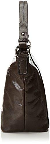 GERRY WEBER Damen Lugano Hobo M Henkeltaschen, 22x27x15 cm Braun (Dark Brown 702)