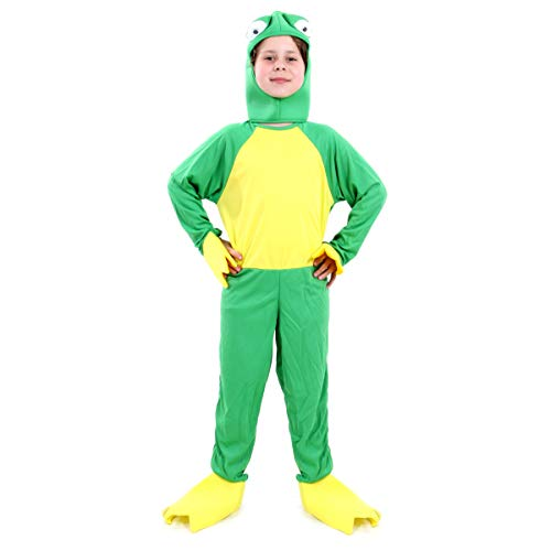 Fantasia Sapo Infantil Sulamericana Fantasias Verde/Amarelo 8 Anos