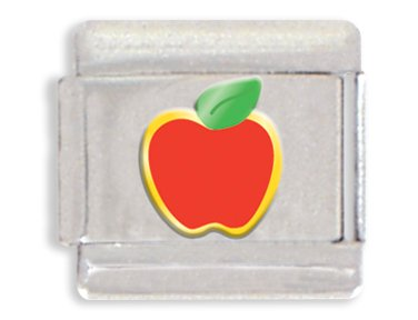 Apple Italian Charm Bracelet Link