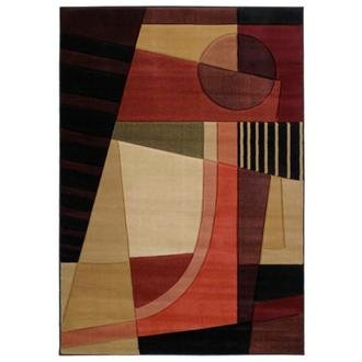 United Weavers Contours Urban Angles Green Geometric Contemporary Rug (Angles Weavers Urban United)